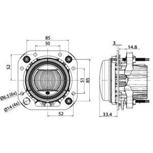 Hella 1F0 011 988-131 Faretto a LED, sinistro o destro, con cornice di montaggio 1F0 011 988-131