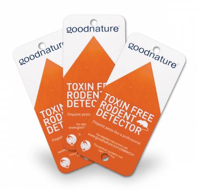 goodnature set di 3 carte di rilevamento per roditori con sostanza acchiappa topi - 25x3 pezzi 483025