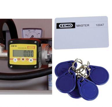 Cemo France Contatore digitale con controllo d'accesso CMO 10 + 5 badge + 1 tessera Cemo 10745F