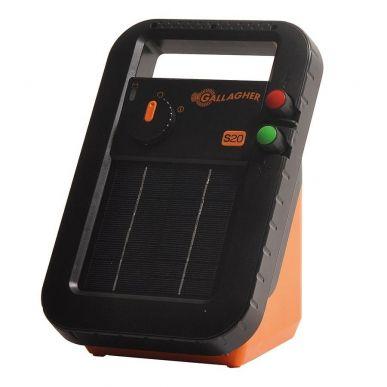 Gallagher Elettrificatore per recinto S20 con batteria inclusa + Supporto libero (6V - 0,2 J) 341323