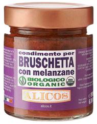 Alicos - Sapori Autentici di Sicilia Condimento per Bruschetta con melanzane BIO 190g - Alicos