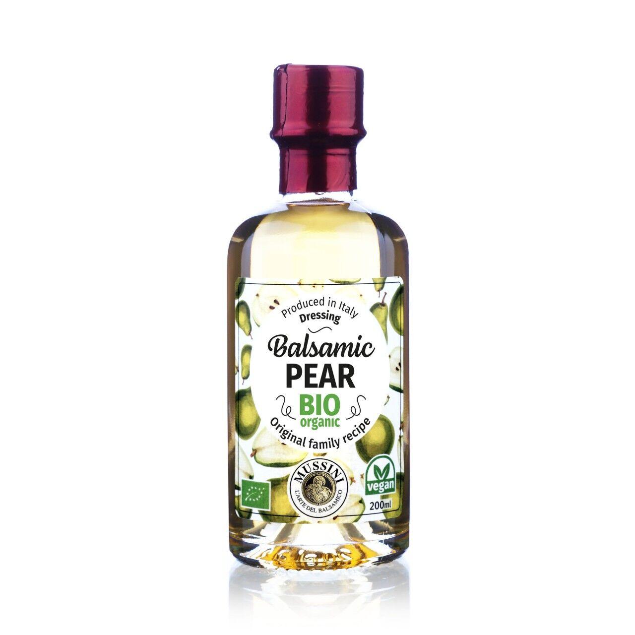 Mussini Condimento Balsamico alla Pera, BIO, I.G.P., 200ml - Mussini