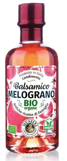 Mussini Condimento Balsamico al Melograno, BIO, I.G.P., 200ml - M...