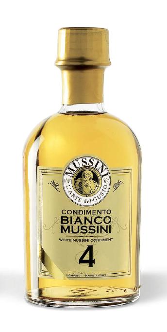 Mussini Condimento Balsamico bianco Vecchio Ducato N. 4, 250 ml -...
