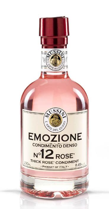 Mussini Condimento Balsamico Rosé Emozione n°12, 250 ml - Mussini