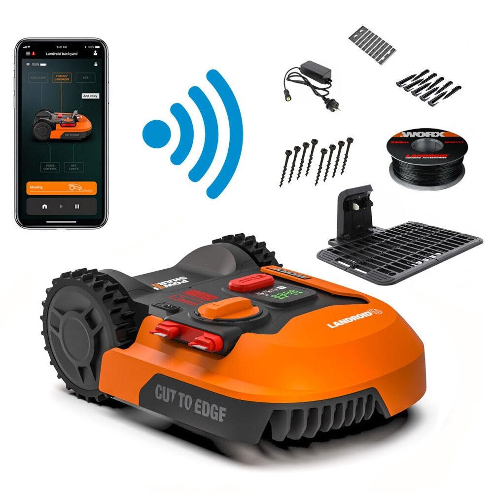worx landroid m wr141e- robot rasaerba tagliaerba automatico 500mq