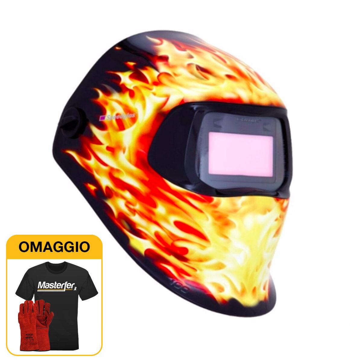 3M Speedglass Blaze 100V - Maschera per saldatura con filtro autoscurante DIN 8-12