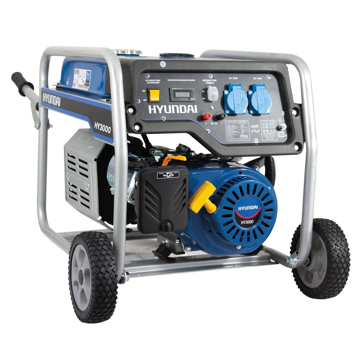 hyundai generatore di corrente  hy3000 a benzina 2,8 kw 65010