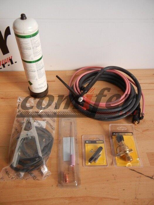 deca kit per saldatura tig  - pronto all'uso per qualsiasi saldatrice ad elettrodo