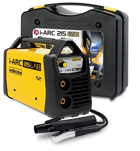 deca saldatrice inverter  i-arc 215 lab (150 a) con kit completo pronta all'uso