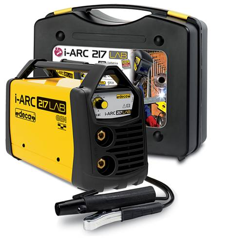 deca saldatrice inverter  i-arc 217 lab (170 a) con kit completo pronta all'uso