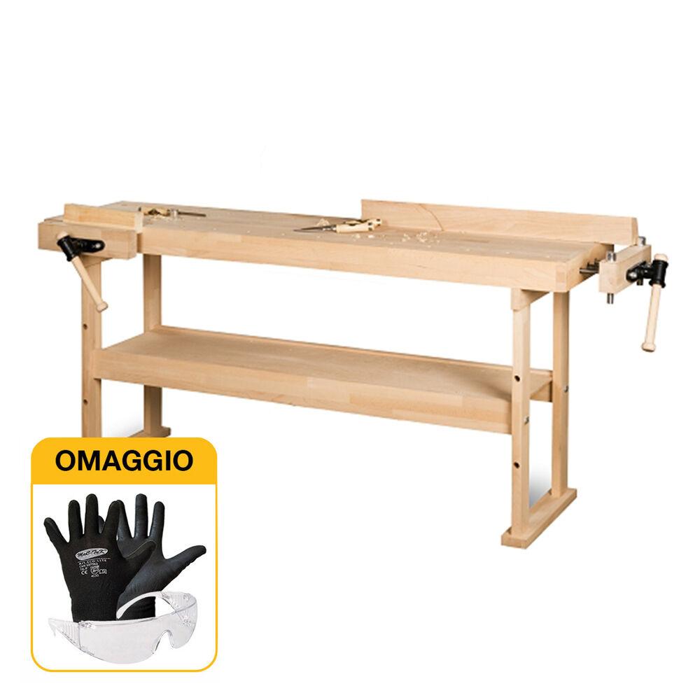 holzstar holzkraft hb1401 - banco da lavoro da falegname in legno con omaggio
