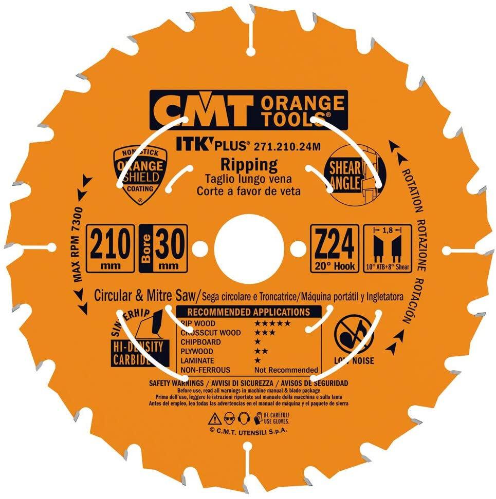 CMT 271.210.24M - Disco per troncatrice taglio legno - Ø210mm 24 denti