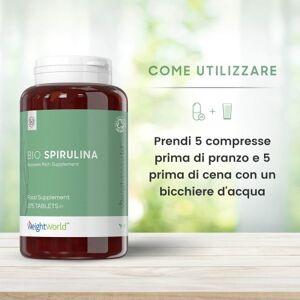 Spirulina Bio 4000mg 375 Compresse - Integratore di Alga Spirulina per Dimagrire e Benessere - Aminoacidi Naturali Multivitaminico Antiossidante Detox