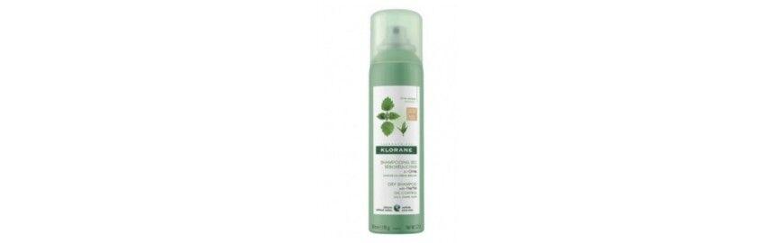 Klorane Shampoo Secco Ortica sebo regolatore per capelli scuri 150 ml