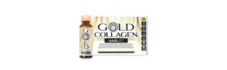 Minerva Research Labs Gold Collagen HairLift 10 Flaconi Integratore per far Crescere i Capelli