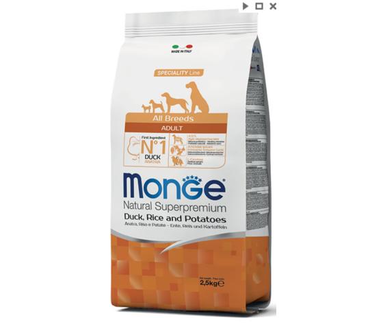 MONGE Allbreeds Anatra Riso Patate 12 Kg
