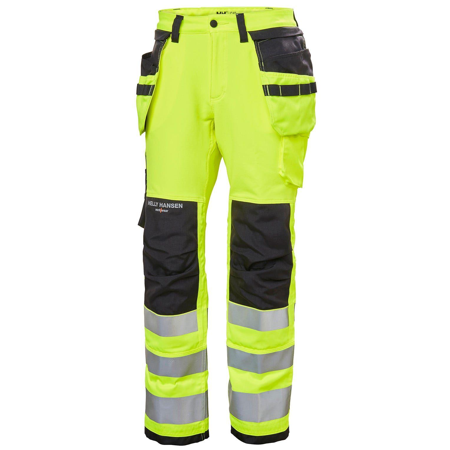 HH Workwear Workwear Helly Hansen Women's Luna Alta Visibilità Construction Pant Cl 2 C38 Giallo