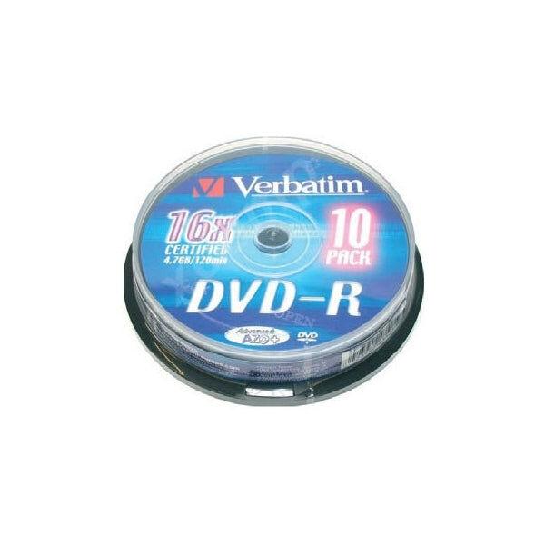 Verbatim Dvd-R Verbatim 43523 16x 10 Pcs