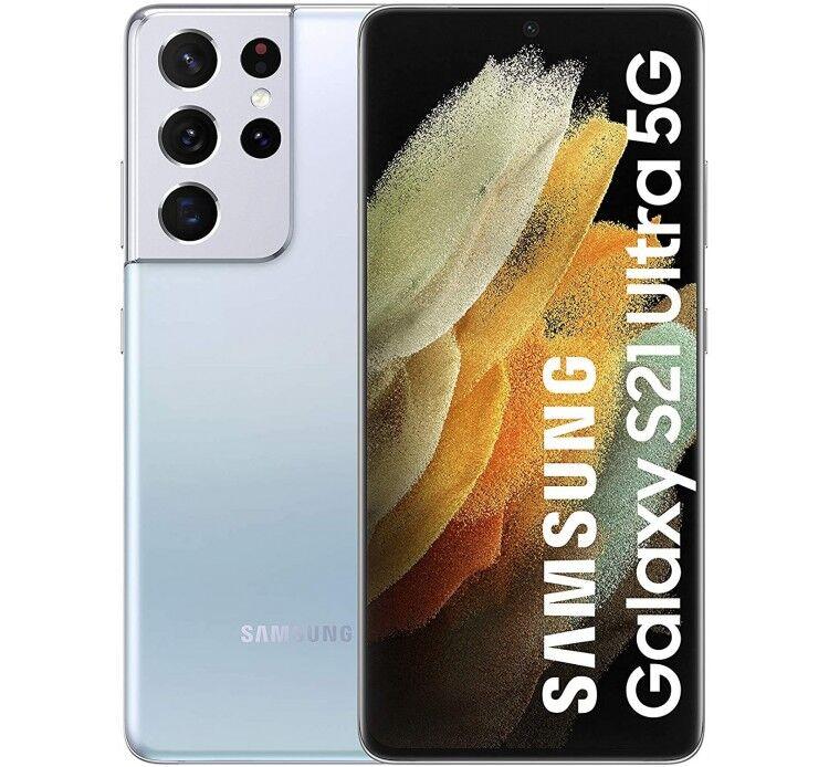 Samsung S21 Ultra 5G 12GB Ram 256GB Dual Sim Argento Europa