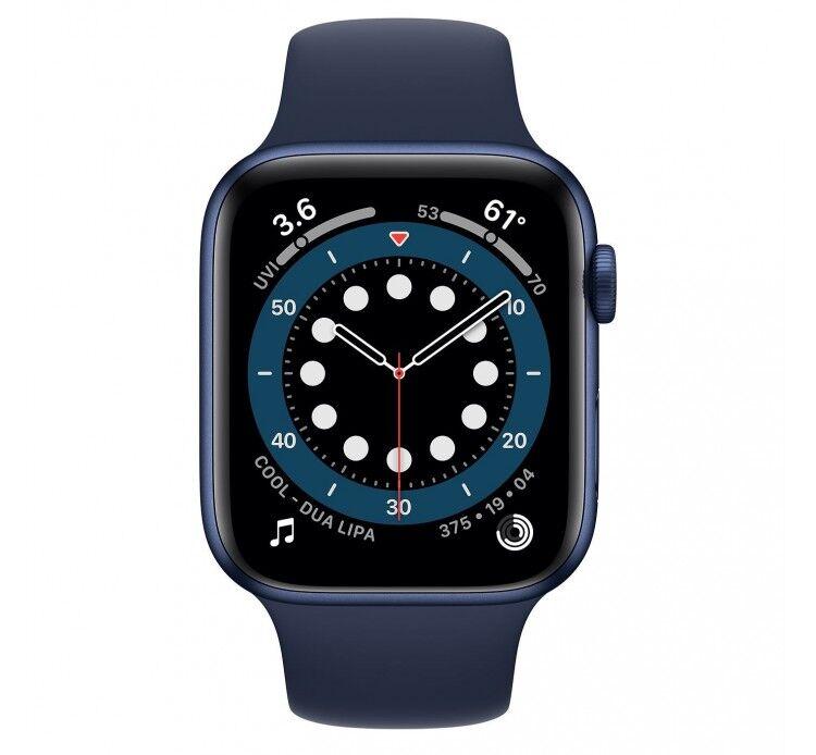Apple Watch Series 6 GPS 40mm Blu Aluminum Case with Sport Band Deep Navy Europa