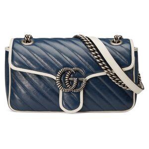 Gucci Borsa a spalla GG Marmont misura piccola Blu