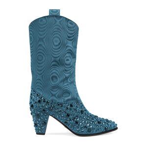 Gucci Stivale donna con cristalli Blu