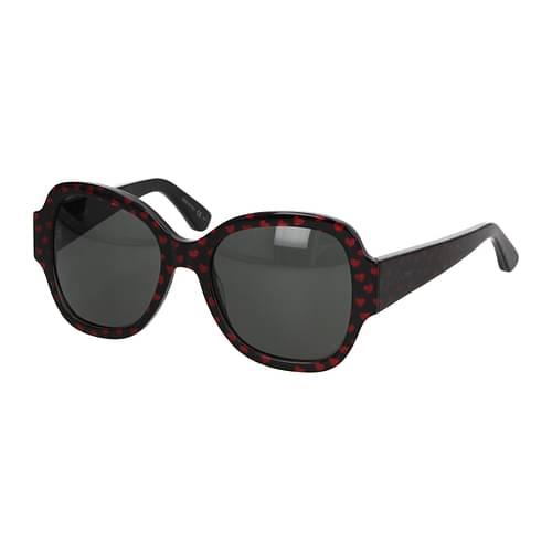 Saint Laurent Occhiali da Sole Donna Acetato Nero Rosso One Size