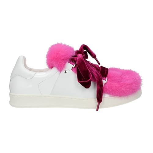 Moncler Sneakers ambre Donna Vernice Bianco Fuxia 37