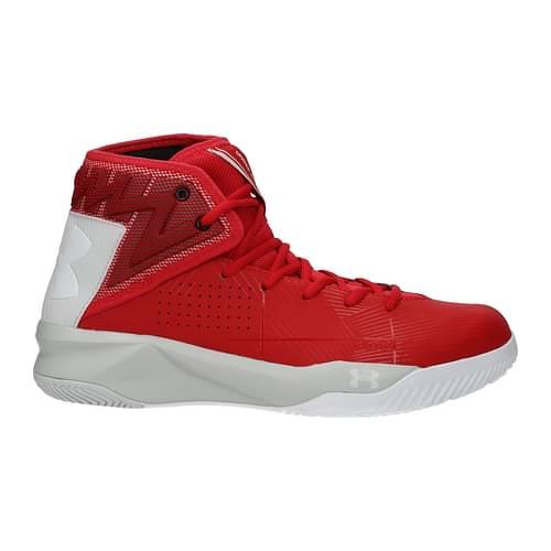 Under Armour Sneakers Uomo Tessuto Rosso Grigio 43