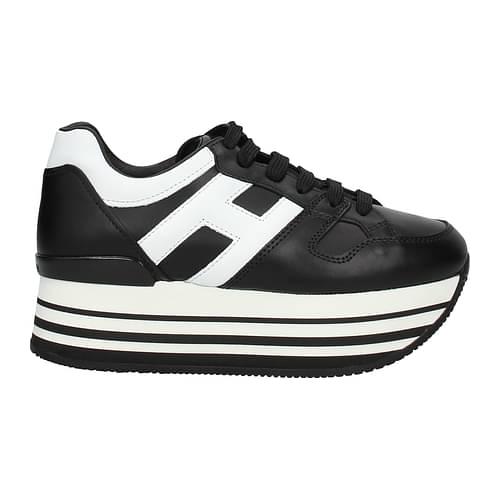 Hogan Sneakers Donna Pelle Nero 37.5