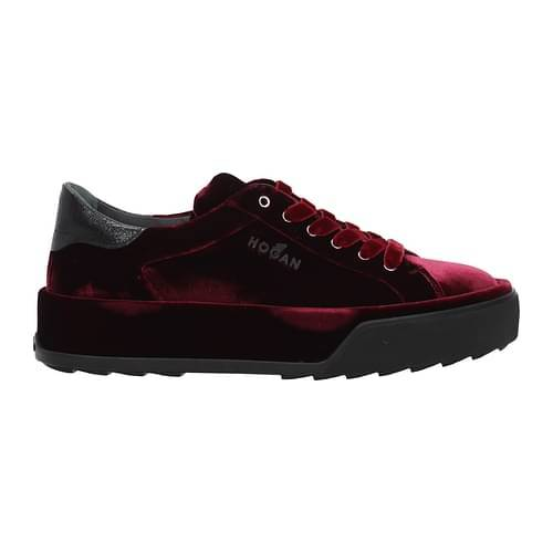 Hogan Sneakers Donna Velluto Rosso 37