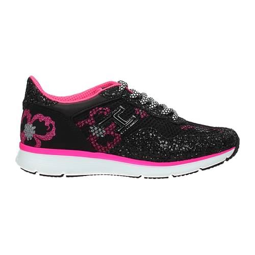 Hogan Sneakers Donna Tessuto Nero Fuxia 40