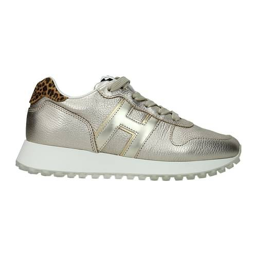 Hogan Sneakers Donna Pelle Oro Leopardato 37.5
