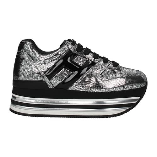 Hogan Sneakers Donna Pelle Argento 37