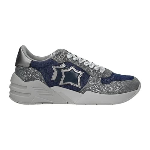 Atlantic Stars Sneakers Donna Tessuto Blu Grigio 38