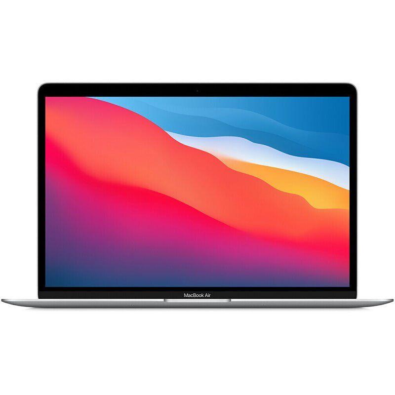 """Apple MACBOOK AIR 13 2020 13.3"""" CHIP M1 CPU 8-CORE E GPU 7-CORE-RAM 8GB-SSD 256GB ITALIA ARGENTO"""