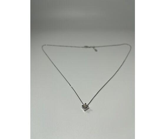 mola gioielli collana donna con punto luce di diamanti in oro 18 kt