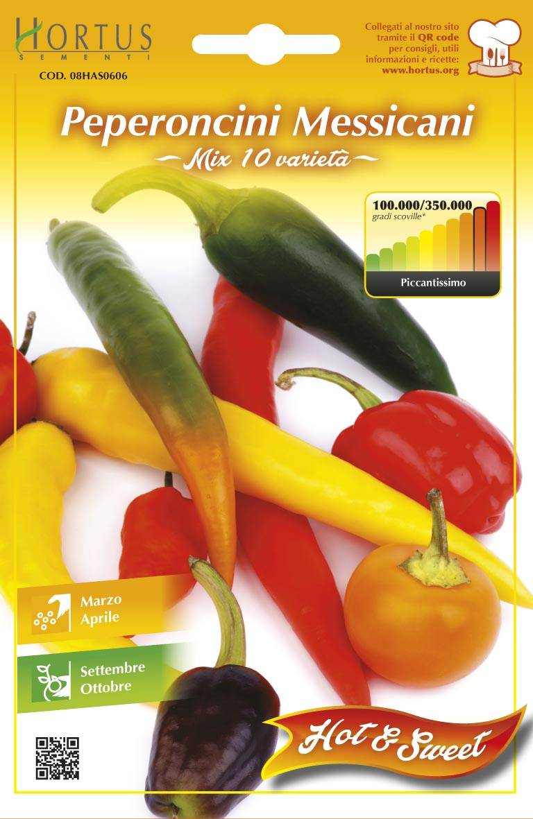 hortus sementi semi orto peperoncini messicani mix10