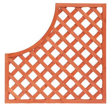 i giardini del re pannello grigliato legno c/arco cm90x90 mod.3