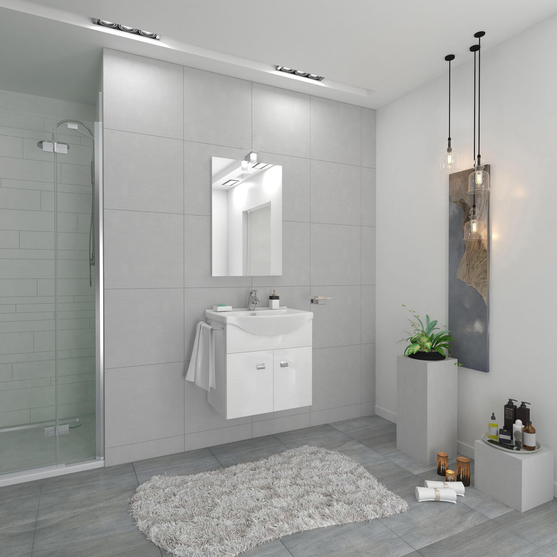 Mobile Bagno Emma Sospeso Completo Bianco