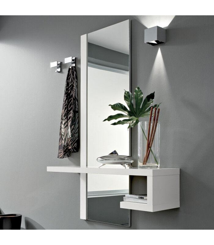 La Primavera ARREDinITALY: Ingresso Alba Componibile, Realizzato Con Pannelli Di 4 Cm. Di Spessore Rivestito In Acrilico Bianco Lucido
