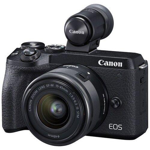 Canon Fotocamera Mirrorless Canon M6 Mark II + Obiettivo EF-M 15-45mm + Miri