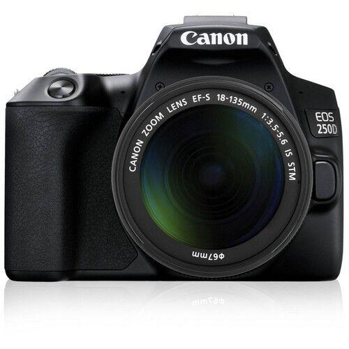 canon fotocamera reflex canon eos 250d black + obiettivo 18-135mm is stm - p