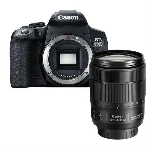 canon fotocamera reflex canon eos 850d + obiettivo 18-135mm is stm - prodott