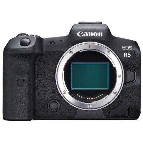 canon fotocamera mirrorless canon eos r5 body black - prodotto in italiano