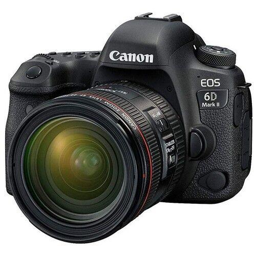 canon fotocamera reflex canon eos 6d mark ii + obiettivo 24-70mm f4 is usm -