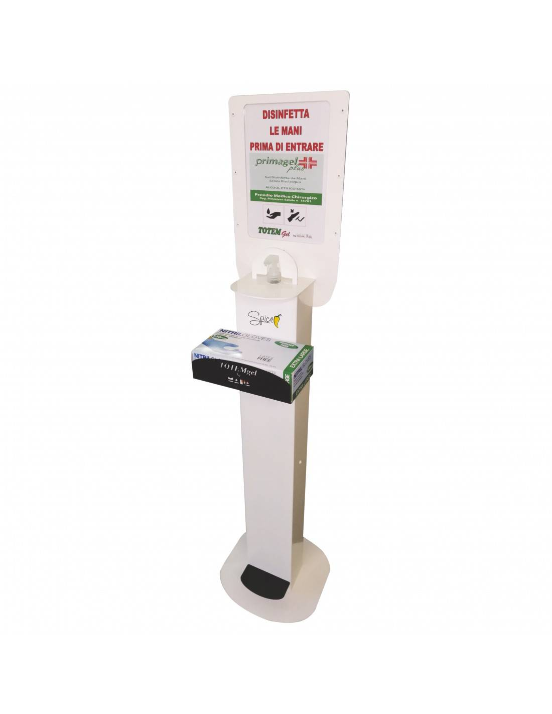 spice electronics totem gel premium by mapa - porta dispenser gel disinfettante mani