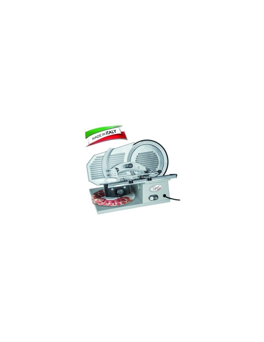 SPICE Electronics Affettatrice Professionale Paprika Gourmet Pro 22 lama 25 cm 160 w