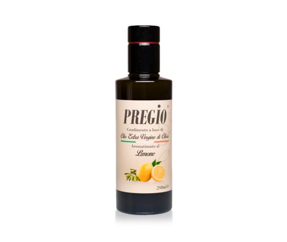 Pregio Condimento A Base Di Olio Extra Vergine Di Oliva Aromatizzato Al Limone
